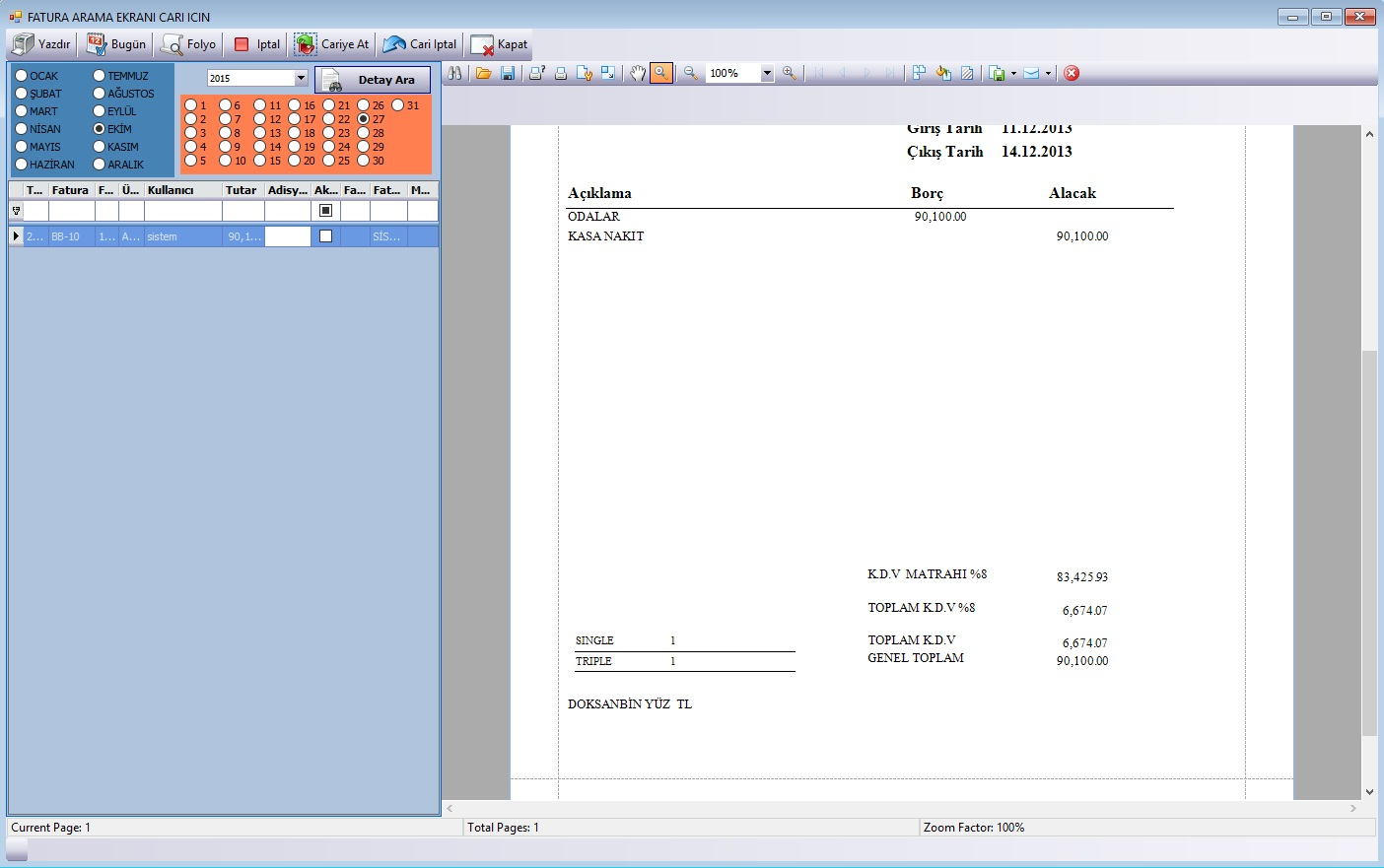 Sistem Hotel Software PMS-  Invoices
