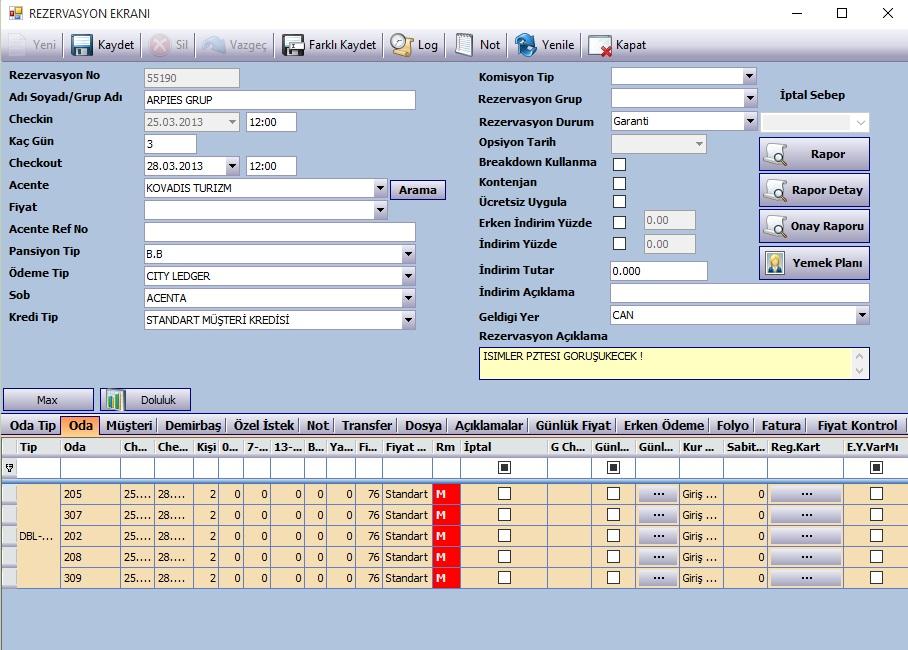 Sistem Hotel Software PMS-  Reservation