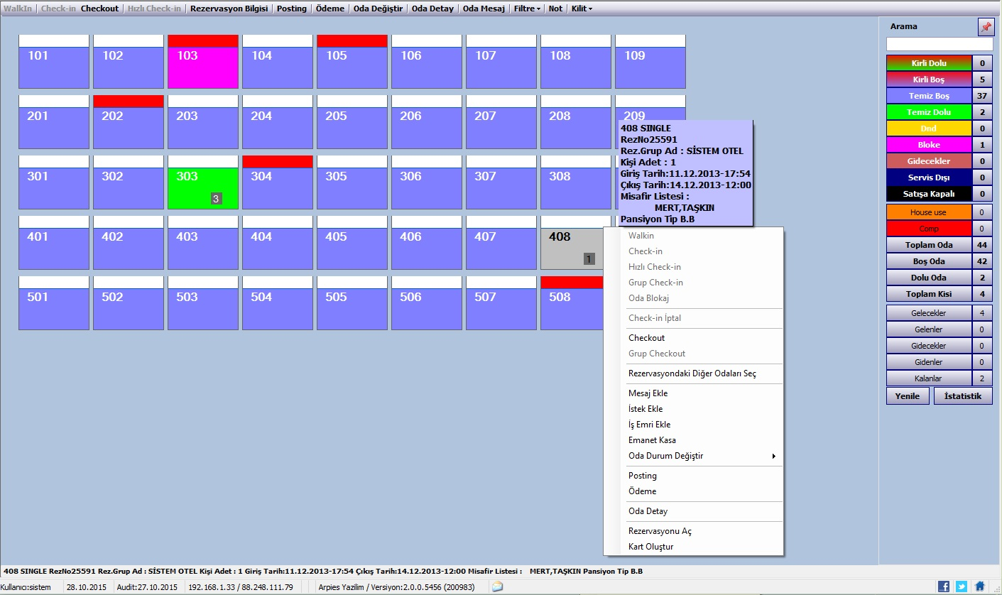 Sistem Hotel Software PMS-  Roomrack