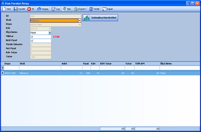 Sistem Hotel Software PMS-  Inventory Transaction Detail