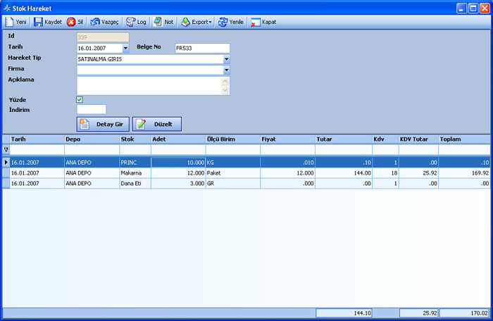 Sistem Hotel Software PMS-  Inventory Transactions