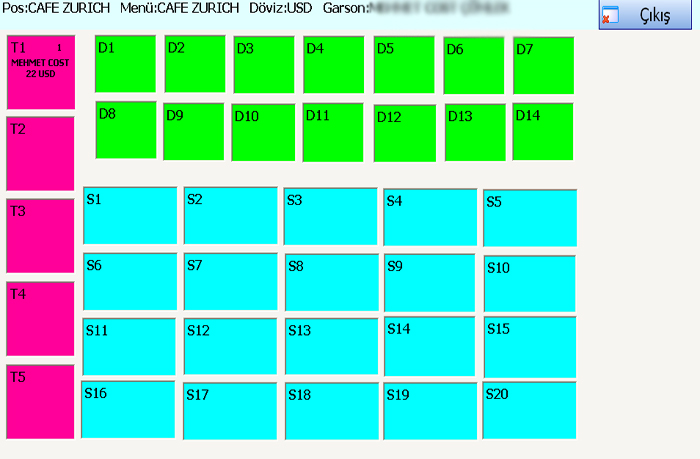Sistem Hotel Software PMS-  Table Plan